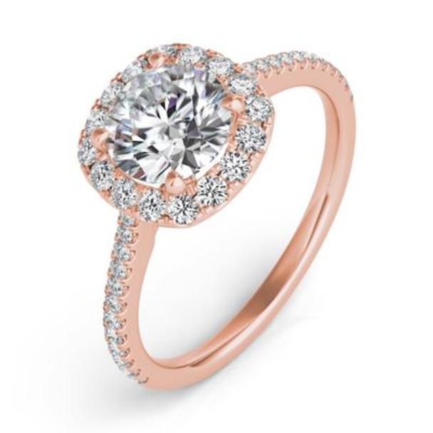 14K Rose Gold Diamond Engagement Ring-2506541