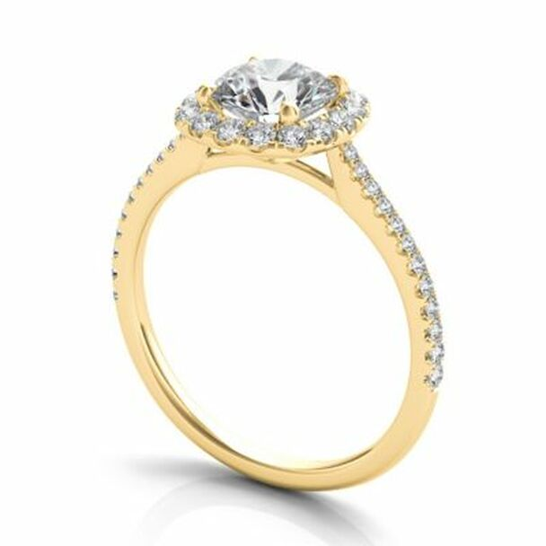 14K Yellow Gold Diamond Engagement Ring-2506546