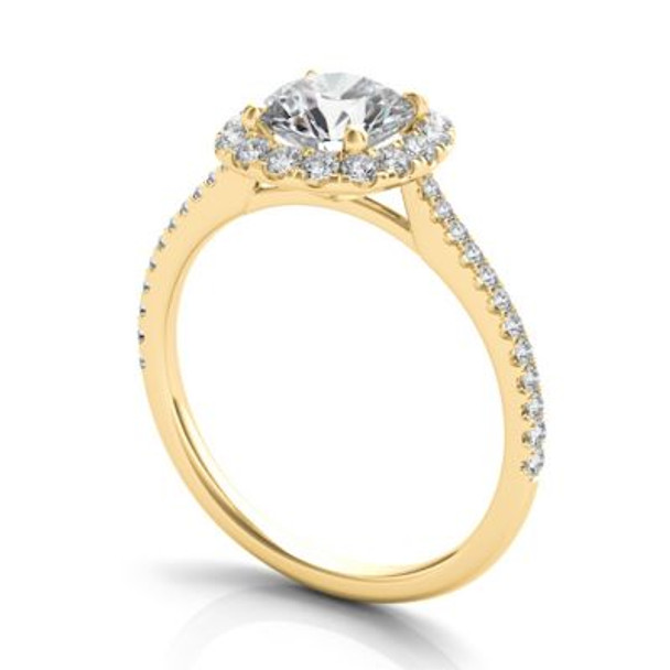 14K Yellow Gold Diamond Engagement Ring-2506547
