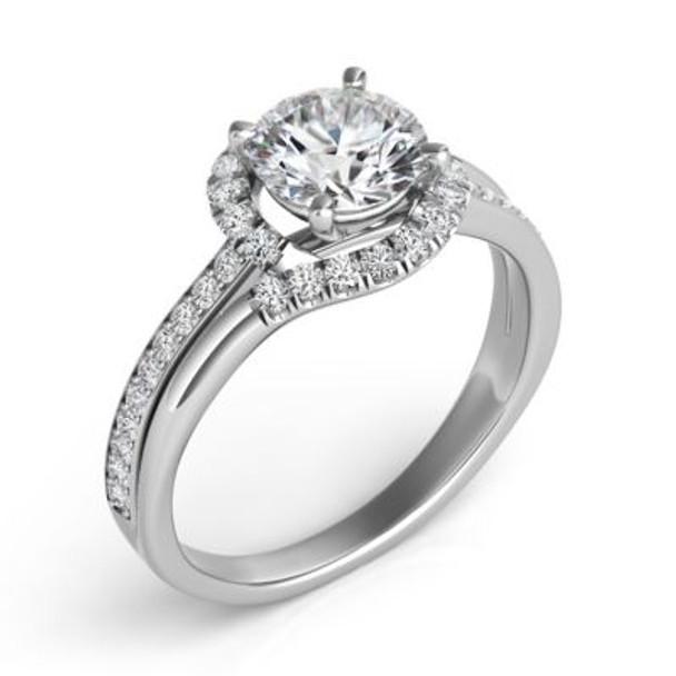 14K White Gold Diamond Engagement Ring-2506573