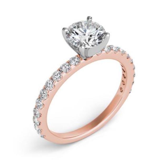 14K Rose Gold Diamond Engagement Ring-2506579