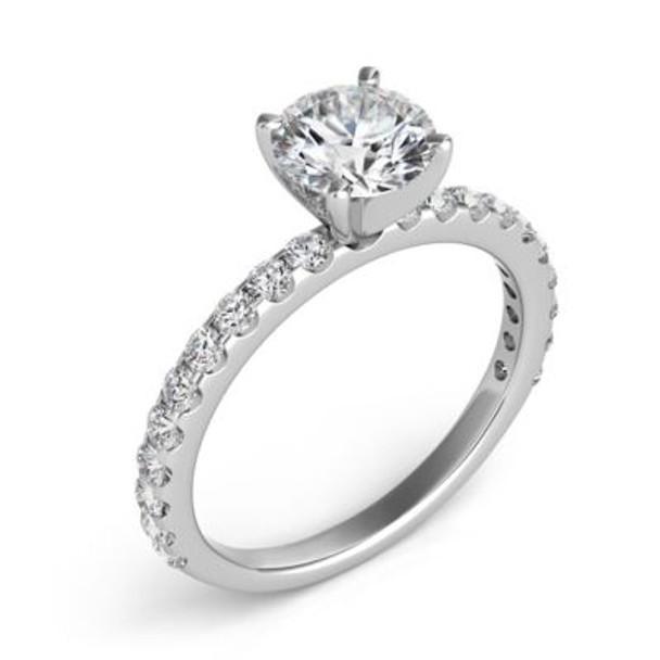 14K White Gold Diamond Engagement Ring-2506580
