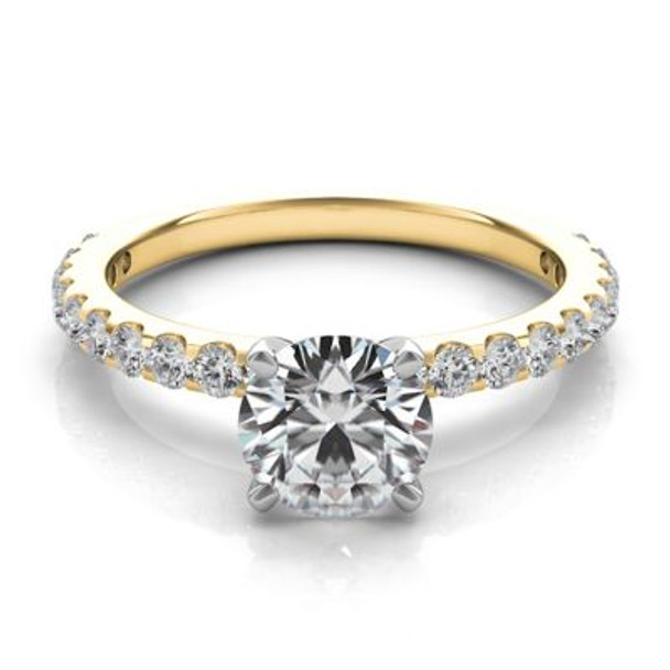 14K Yellow Gold Diamond Engagement Ring-2506584