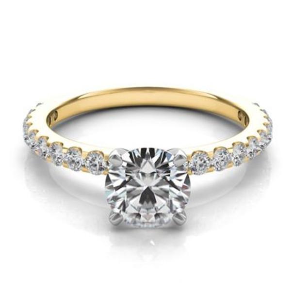14K Yellow Gold Diamond Engagement Ring-2506585