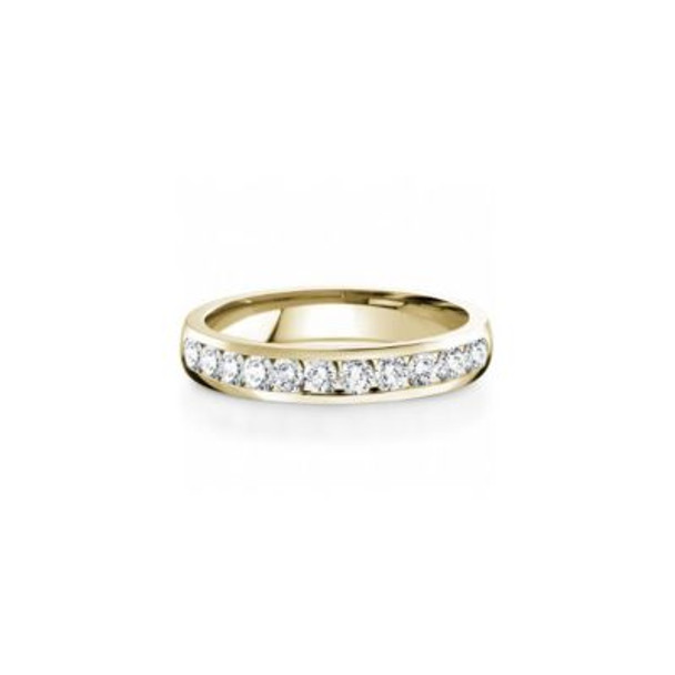 14K Yellow Gold Diamond Channel Set Anniversary Band-2506600
