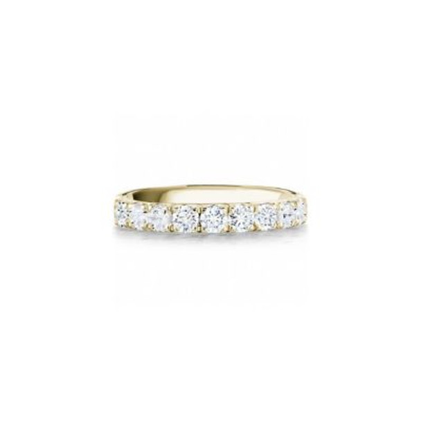 14K Yellow Gold Diamond Prong Set Anniversary Band-2506604