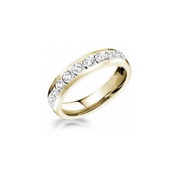 14K Yellow Gold Diamond Channel Set Eternity Band-2506608
