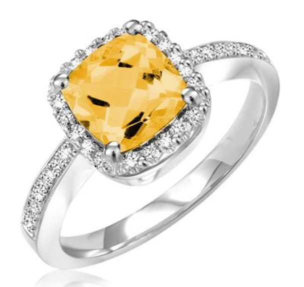 Citrine & Diamond Ring-2506614