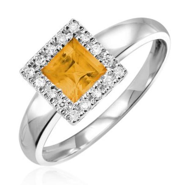 Citrine & Diamond Ring-2506616