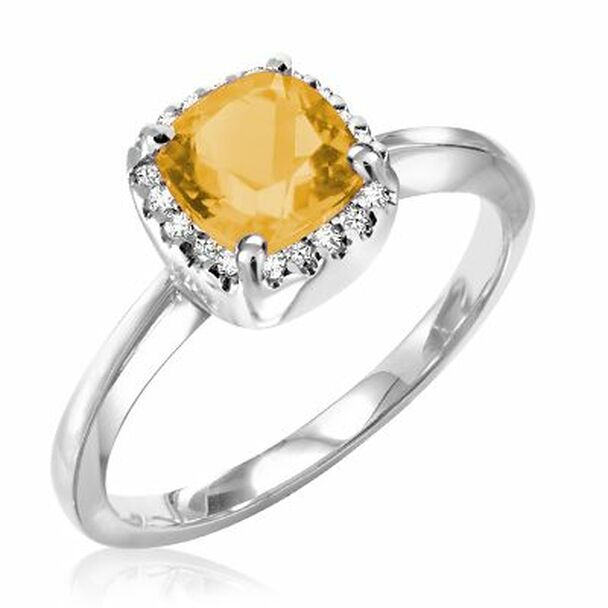 Citrine & Diamond Ring-2506619