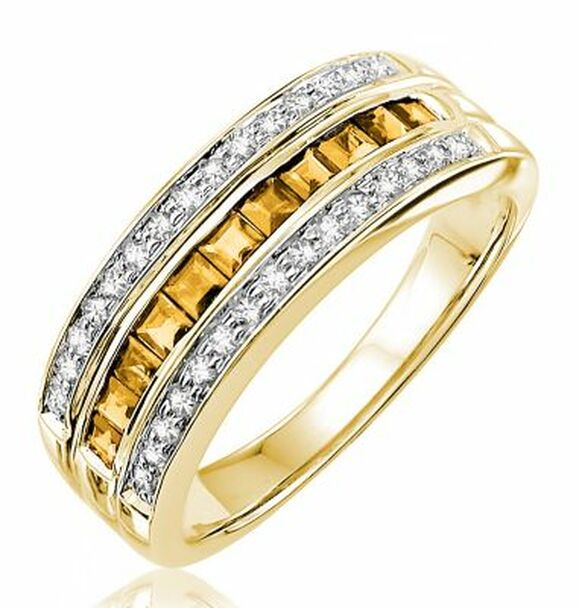 Citrine & Diamond Ring-2506620