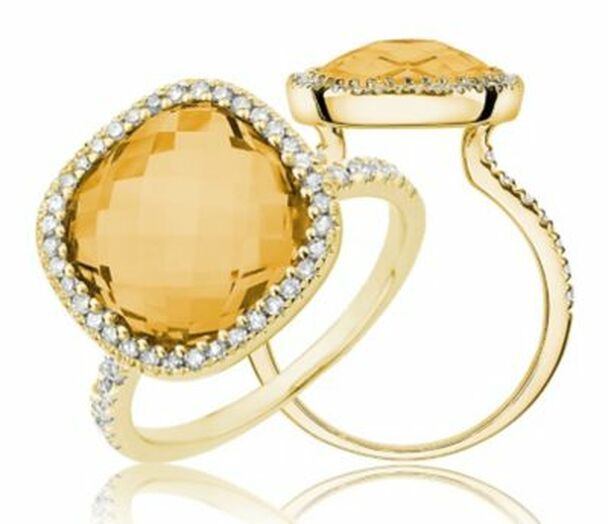 Citrine & Diamond Ring-2506621