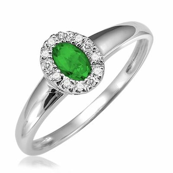 Emerald & Diamond Ring-2506622