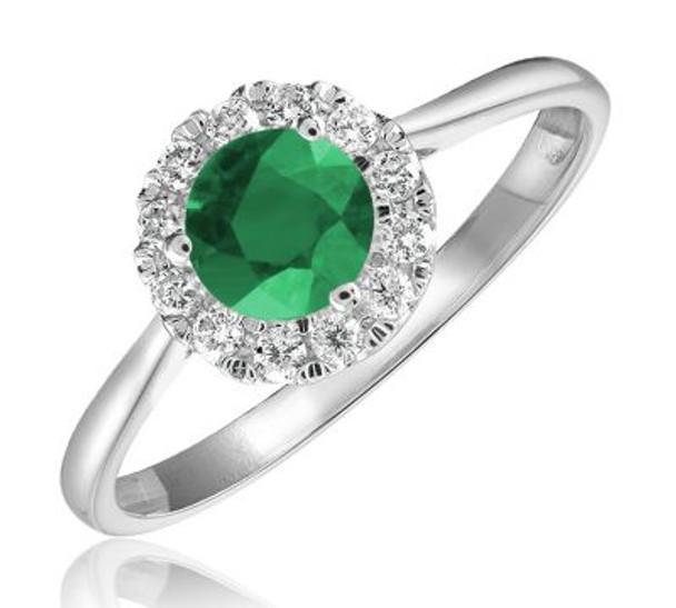 Emerald & Diamond Ring-2506624