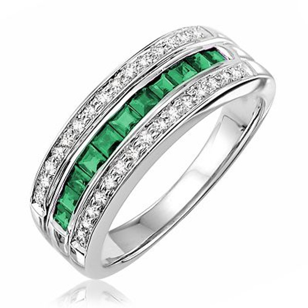 Emerald & Diamond Ring-2506625