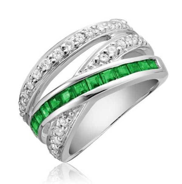 Emerald & Diamond Ring-2506626