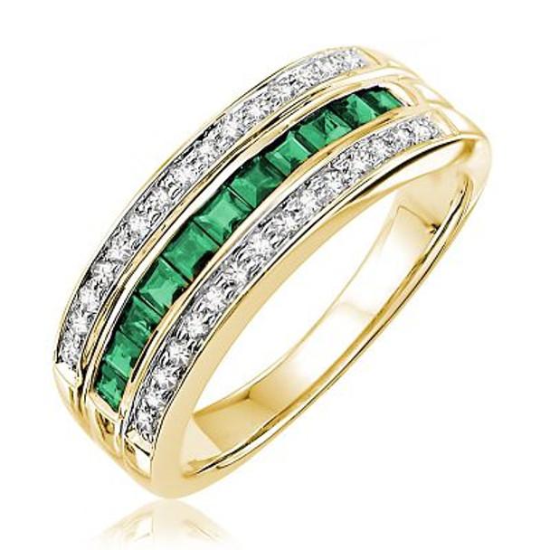 Emerald & Diamond Ring-2506628