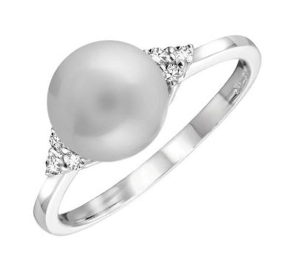 Pearl & Diamond Ring-2506633