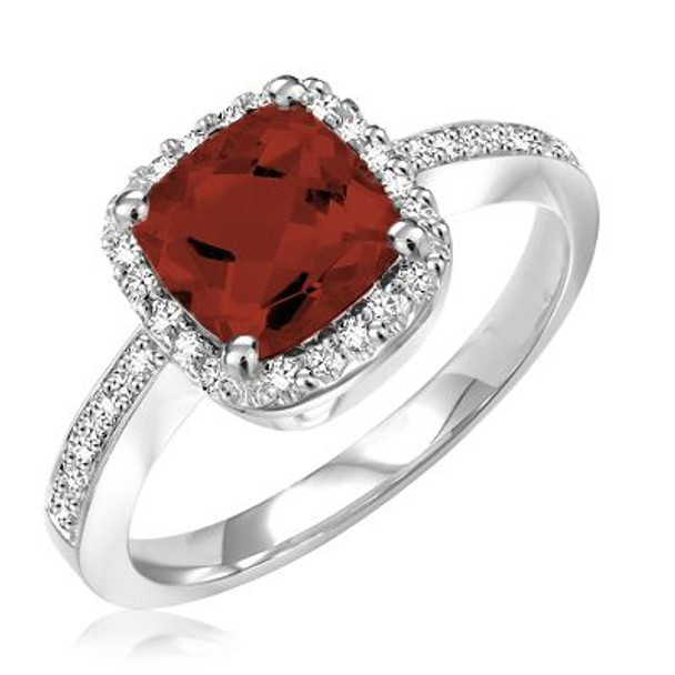 Garnet & Diamond Ring-2506634