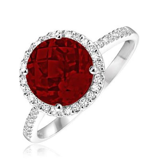 Garnet & Diamond Ring-2506636