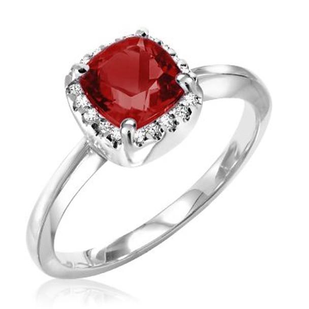 Garnet & Diamond Ring-2506638