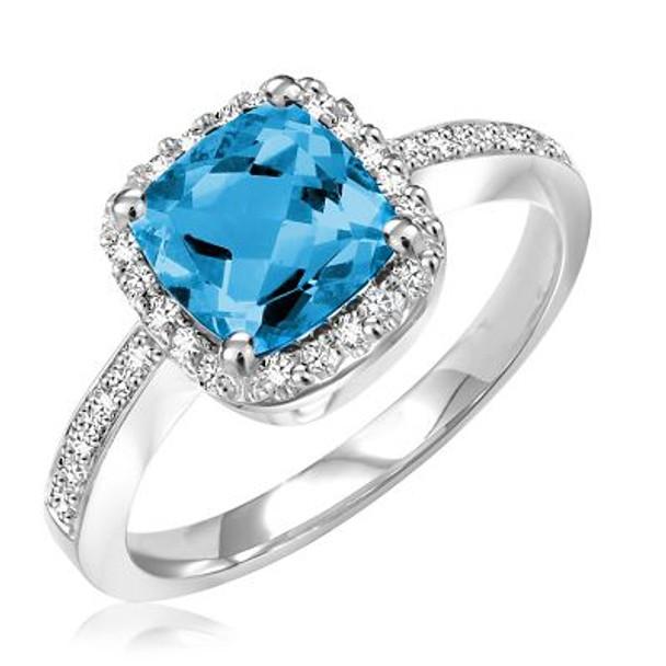London Blue Topaz & Diamond Ring-2506639