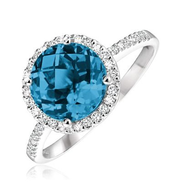 London Blue Topaz & Diamond Ring-2506640