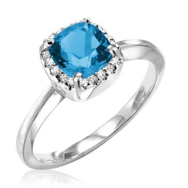 London Blue Topaz & Diamond Ring-2506642