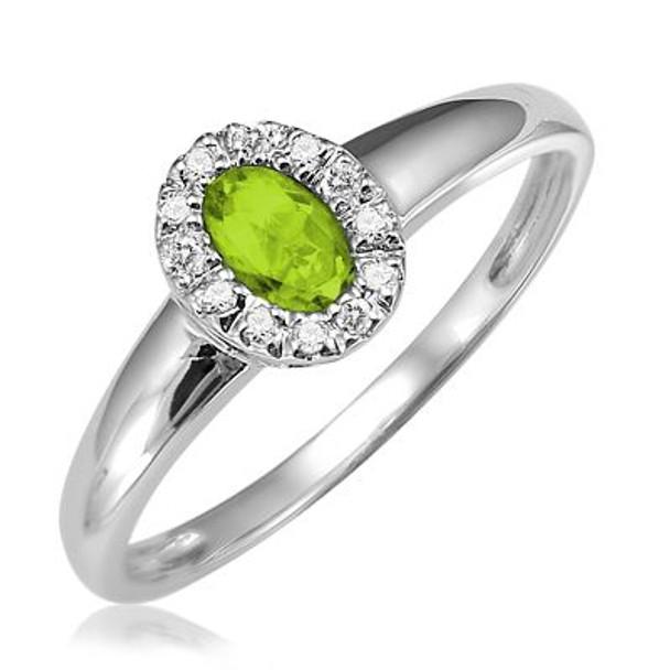 Peridot & Diamond Ring-2506644