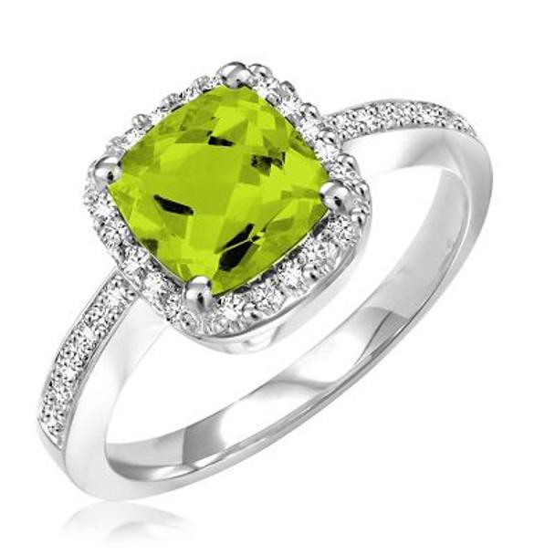 Peridot & Diamond Ring-2506645