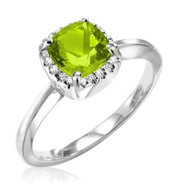 Peridot & Diamond Ring-2506647