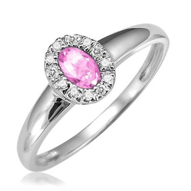 Pink Quartz & Diamond Ring-2506648