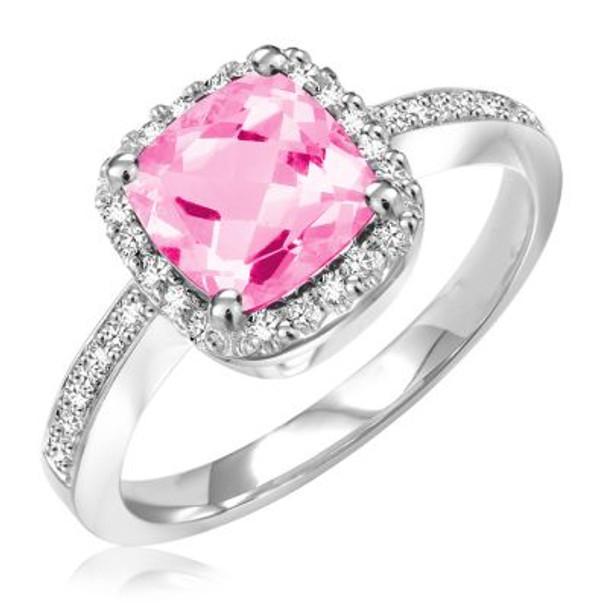Pink Quartz & Diamond Ring-2506649