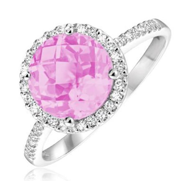 Pink Quartz & Diamond Ring-2506651