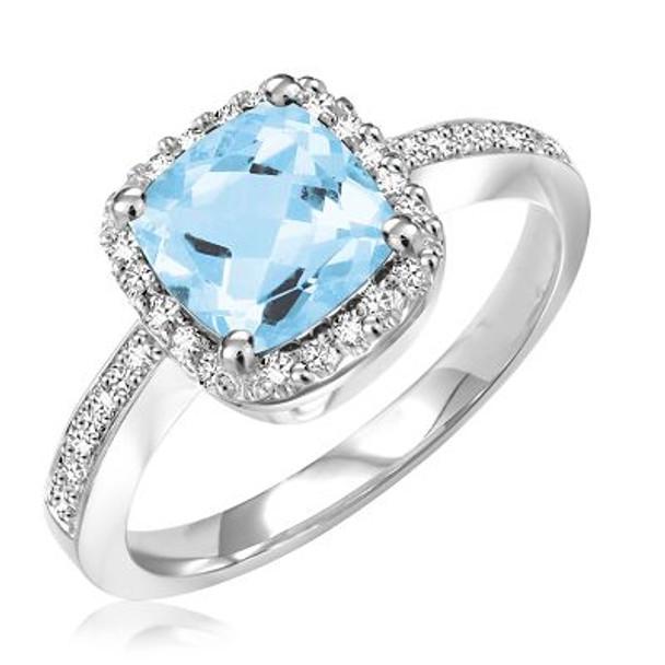Sky Blue Topaz & Diamond Ring-2506666