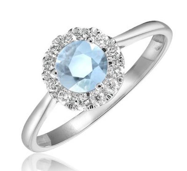 Sky Blue Topaz & Diamond Ring-2506667