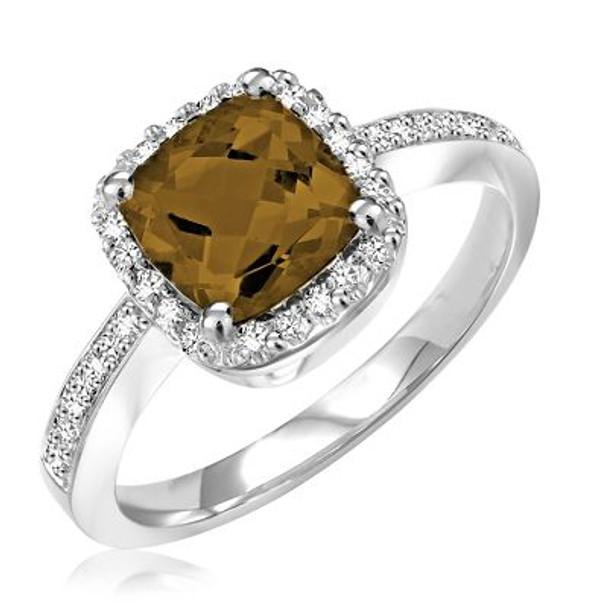 Smoky Quartz & Diamond Ring-2506676