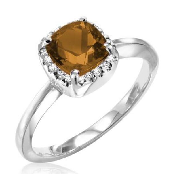 Smoky Quartz & Diamond Ring-2506679