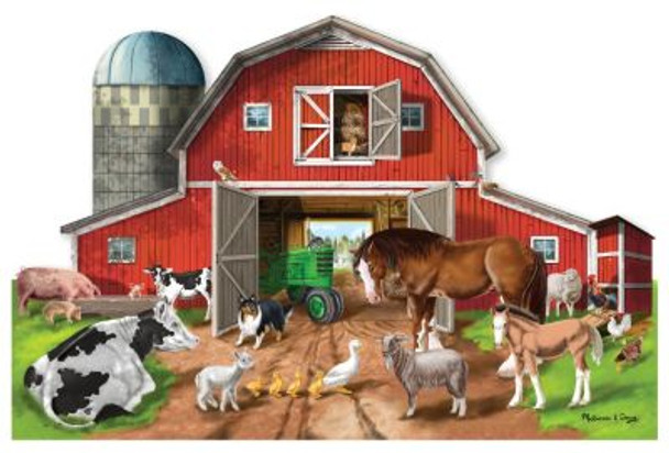 Busy Barn Shaped Floor Puzzle (32-Piece)-2543928