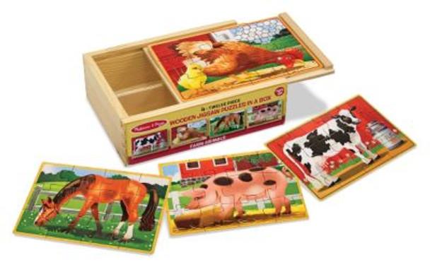 Farm Animals Jigsaw Puzzles in a Box-2544026