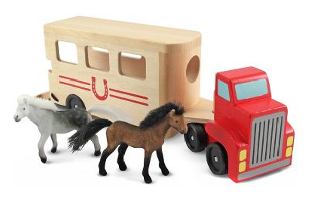 Horse Carrier Wooden Vehicles Play Set-2544076