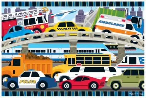 Traffic Jam Floor Puzzle (24-Piece)-2544185