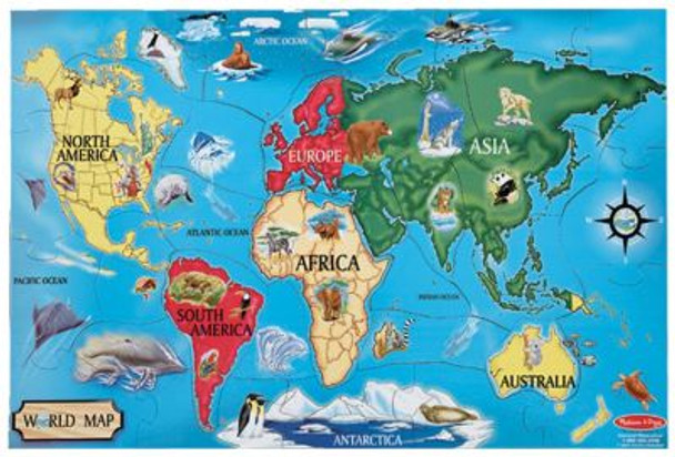 World Map Floor Puzzle(33-Piece)-2544193