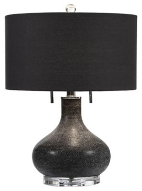 Canelo Distressed Black Glass Lamp-2548151