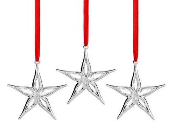 Mini Classic Modern Star Ornament-Set of 3-2599521