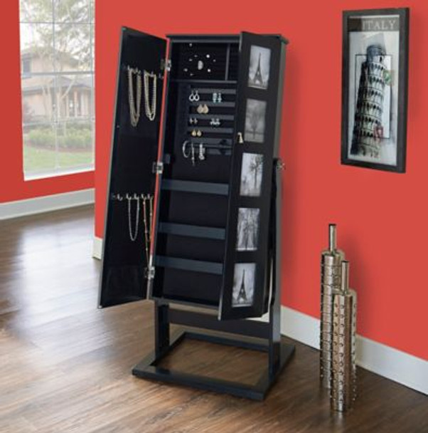 Cheval Photo Armoire - Black-2804115