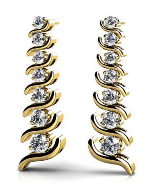 14K Diamond Earrings-3034774