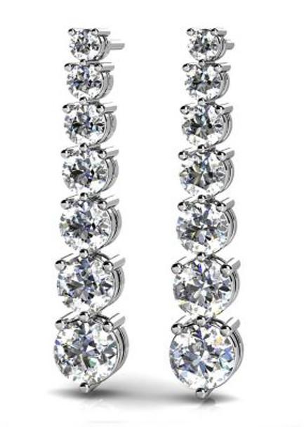 14K Diamond Earrings-3034780