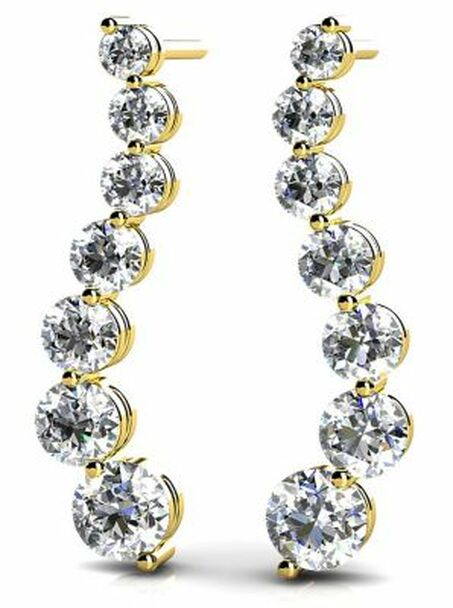 14K Diamond Earrings-3034795