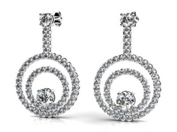 14K Diamond Earrings-3034797